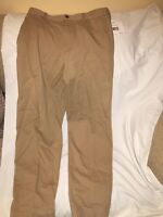 NWT Liz Claiborne Womens 14 Tan Flat Front Dress Pants