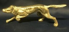 Vintage Solid Brass Irish Setter dog figurine statue paper