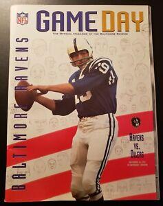 BALTIMORE RAVENS 1997 NFL GAME PROGRAM vs TENNESSEE OILERS, LAST GAME AT MEM STM