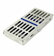 Dental Sterilization Cassette Autoclave Tray Rack Box 7 Instruments Blue