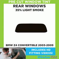 Pre Cut Window Tint - BMW Z4 Convertible 2003-2009 - 35% Light Rear
