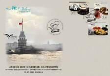 "TURKEY / 2020 - (FDC) EUROMED 2020 ""Gastronomy"" (Cofee, Dessert), MNH"