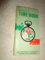 RAILROAD Time Book 1963 1964 Brotherhood of locomotive firemen and enginemen