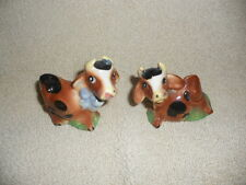 Vintage Cow Couple Salt and Pepper