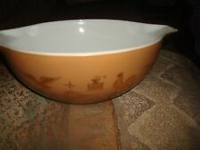 Vintage Pyrex Stacking Bowl  4 quart  Early American  Eagle #444