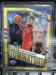 2020-21 Donruss Optic #22 Zion Williamson Elite Dominators Gold 5/10 Ssp ! Hot !