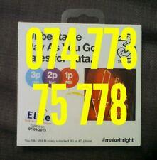 Three 3 Sim Card Standard Micro Nano Good Gold mobile phone number new 747737577