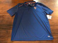 B18 MLB New York Mets  Short Sleeve Blue TX3 cool Polo Shirt Men's xl NWT