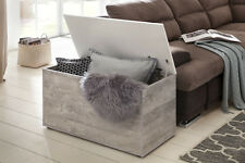 Wilmes: Spielzeugtruhe - Aufbewahrungstruhe Klapptruhe Wohnmöbel - Beton / Weiß