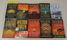 Lot of 10 by Wilbur Smith, Tiger Triumph Shore Angels Thunder Sea Sparrow Scroll