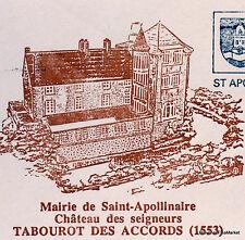 Yt3000A TABOUROT DES ACCORDS  FRANCE  FDC Enveloppe Lettre Premier jour