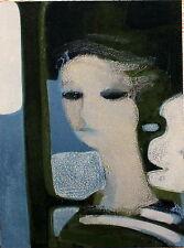 Andre Minaux Original Lithograph Portrait de Sandra Mourlot 1965
