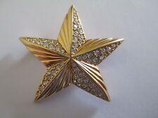 SWAROVSKI Gold-Tone Rhinestone Star Brooch