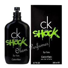 Calvin Klein Ck One Shock For Men Eau De Toilette Spray 6.7oz 200ml * New In Box