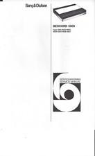 B & O Bang & Olufsen Bedienungsanleitung für Beocord 5000  Copy