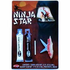 Makeup FX Kit Ninja Star Injury Victim Halloween Fancy Dress Costume Accessory