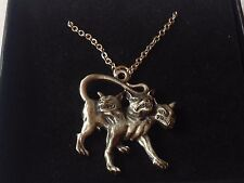 "Cerberus code dr90 In Greek  Made From Pewter On 18"" Silver Plated Curb Necklace"