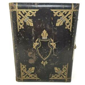 Beautiful Victorian Era All Leather Photo Album, 22 Cabinet and 64 CDV Size