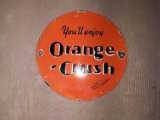 """Porcelain Orange Crush Enamel Sign SIZE 12"""""""