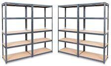 4 x GREY Boltless Shelving Storage Unit 5 Tier Display Racking Warehouse Shops