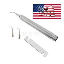 USPS Dental Air Scaler Handpiece 2 Holes With 3 tips G1,G2,P1 NSK style AZ2000