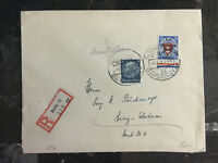 1940 Danzig Cover to Linz Germany # 252
