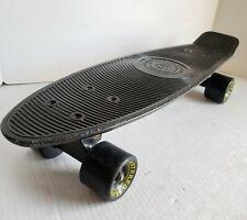 "Vintage Stereo Skateboard Company 22"" Black Vinyl Penny Board"