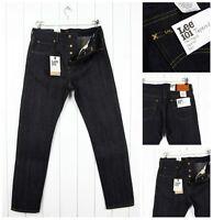 Neuf lee 101 Jeans Effilé 341ml Sec / Brut Lisières Jeans Slim __ W30/W33