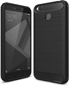 For Xiaomi Redmi 4 (4X) Case Carbon Fibre Gel Cover Ultra Slim