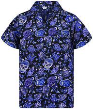 Funky Camicia Hawaiana Skull Blu