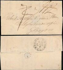 SCOTLAND 1822 WRAPPER 7d REVISED to 1/2 THEN BACK to 7d GLASGOW...DR MILEAGE 405
