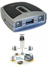 aten us221a sharing switch für 2x pc an 1x usb 2.0 gerät umschalter elektronisch