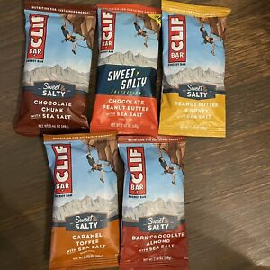 55 CLIF Bar Protein Sweet & Salty Lot Chocolate Chunk Almond Caramel Toffee