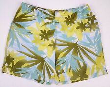 TOMMY Bahama SWIM Trunks LARGE Bathing SUIT Mens MULTICOLOR Green FLORAL Hawaii*