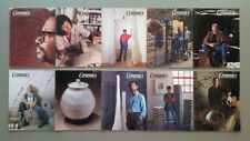 CERAMICS MONTHLY Magazine Back Issues Lot of 10 Vintage 1989 Full Year Pottery