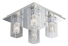 Deckenleuchte Deckenlampe Brilliant LUCIDA Halogen LED Glas Chrom Fernbedienung