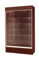 "Wall Glass Display Case Showcase w/Light 78"" H- Walnut/Cherry New York Pickup"