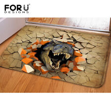 Dinosaur Print Bath Mat Absorbent Soft Kitchen Floor Area Rug Non-slip Carpet