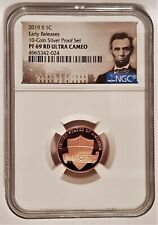 2019-S 1C LINCOLN Penny From 10-Coin Silver Proof Set NGC PF 69 -PORTRAIT LABEL-