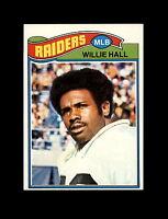 1977 Topps Football #198 Willie Hall (Oakland Raiders) NM