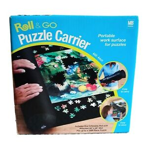 """Milton Bradley Roll & Go PUZZLE CARRIER 34"""" x 48"""" Mat Holds Up to 1000Pc Puzzle"""