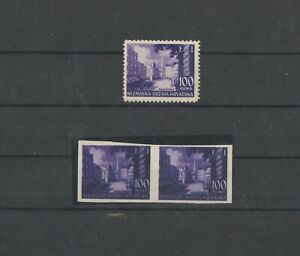 Croatia ww2 FI Banja Luka - normal and imperforated proof in another color RR