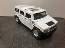 2008 Hummer H2 SUV white kinsmart Toy Car model 1/40 scale diecast metal new