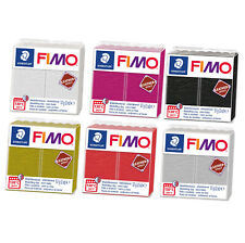 Fimo Leather Effect 57g Polymer Clay 6 Colours Range Modelling Materials