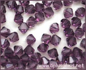Authentic Swarovski Crystal  #5301,#5328 4mm Bicone Beads 60pcs pick color