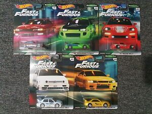 Hotwheels, Fast & Furious Original 5 Car Set. Mint Condition