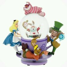NEW Disney Parks Alice in Wonderland Mad Tea Party Cheshire Cat Cup Snowglobe