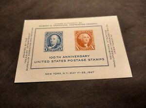 Rjkstamps US 1947 Scott #948 CIPEX 100th Anniversary Souvenir Sheet MNH