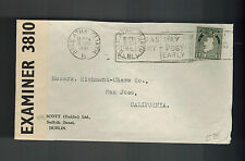 1941 Baile Ireland Censored Cover to San Jose  USA