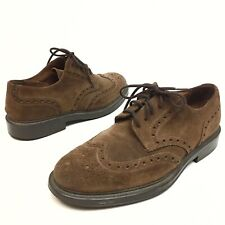 Banana Republic Men's Brown Suede Leather Dress Wingtip Oxfords Shoes Sz 10D (10